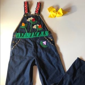 Girls Embellished overalls